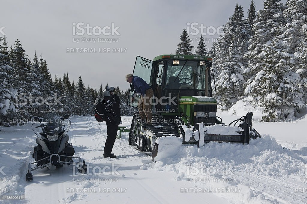 Snowmobiling in Cape Breton royalty-free stock photo
