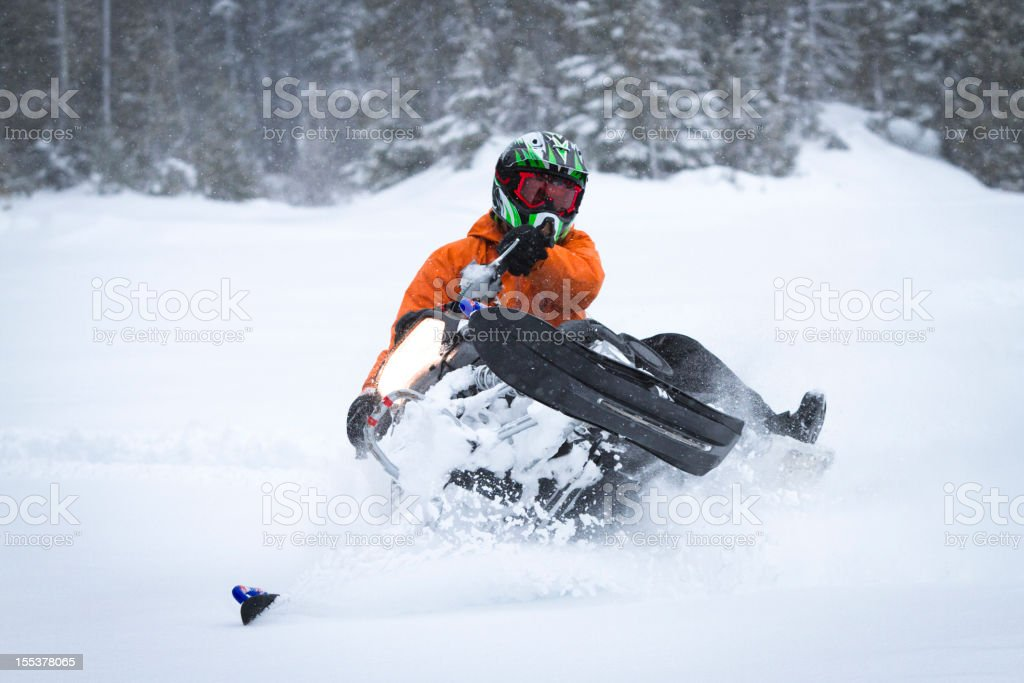 Snowmobiling. royalty-free stock photo