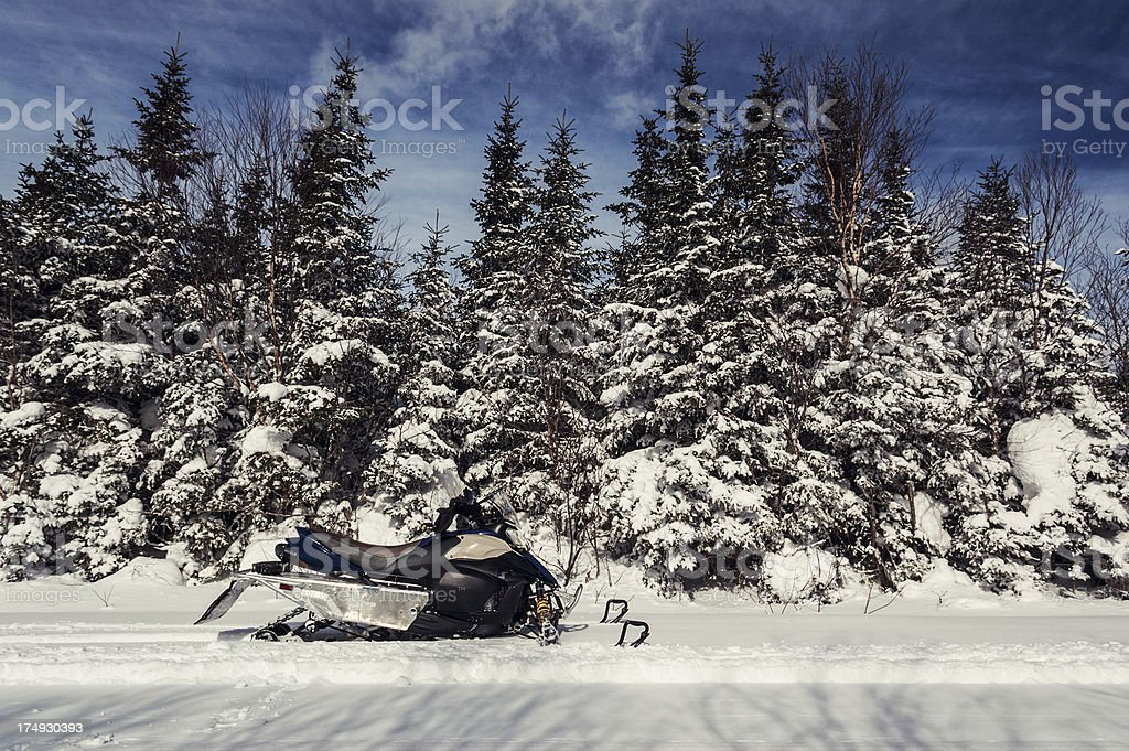 Snowmobiling royalty-free stock photo