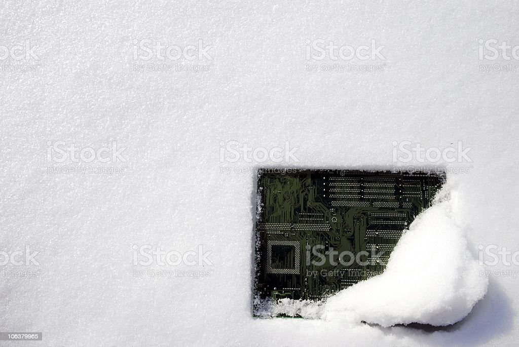 Snowmotherboard - Part 445 stock photo