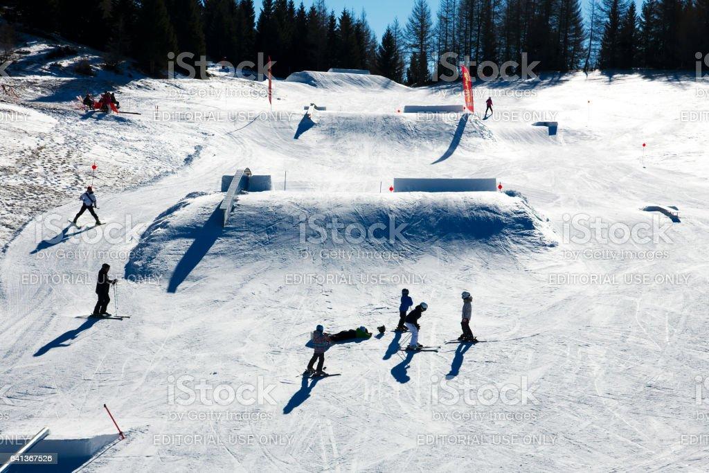 Snowpark stock photo