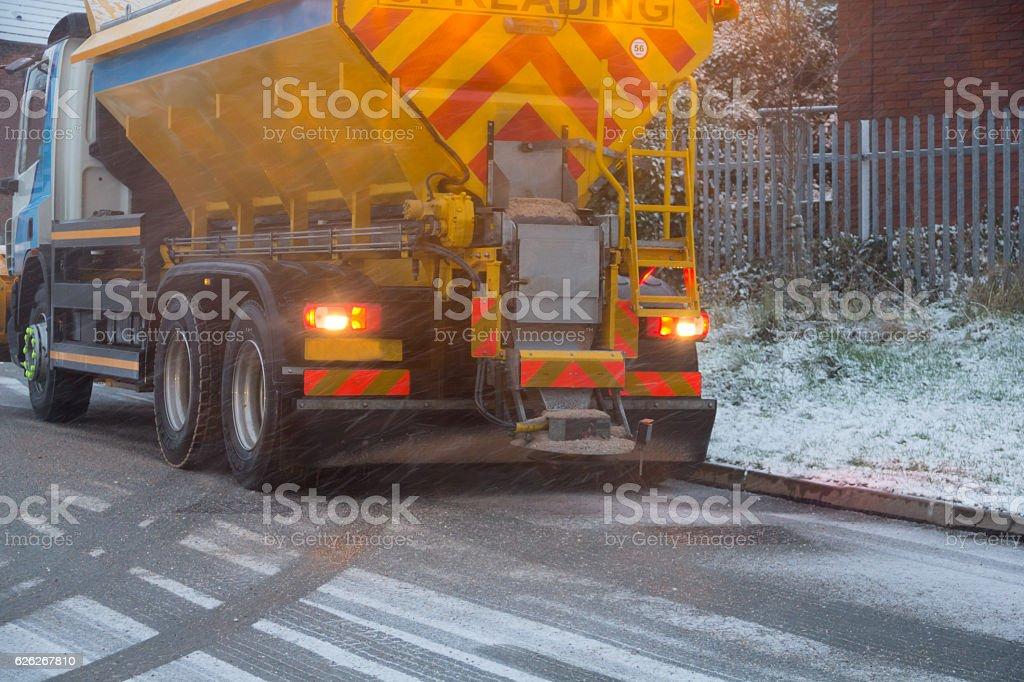 Snowplough stock photo