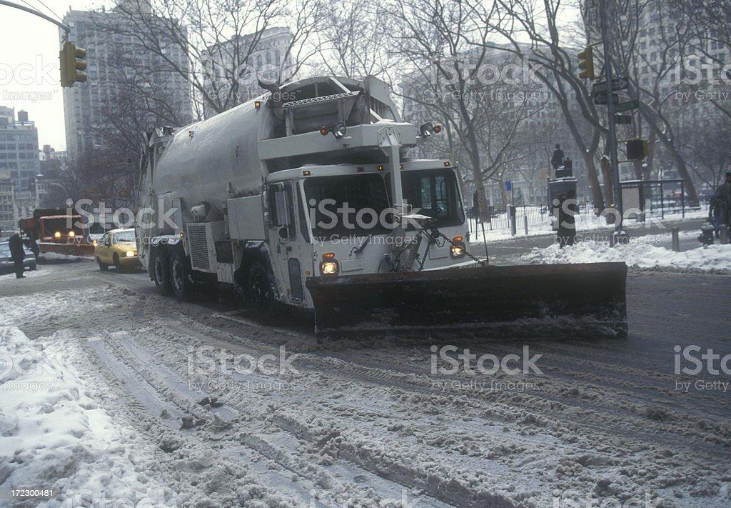 Snowplow royalty-free stock photo