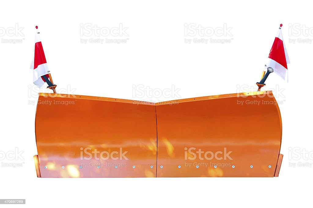 Snowplow stock photo