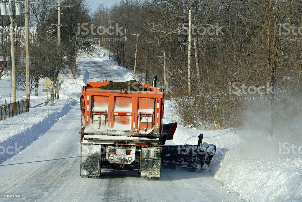 Snowplowing royalty-free stock photo