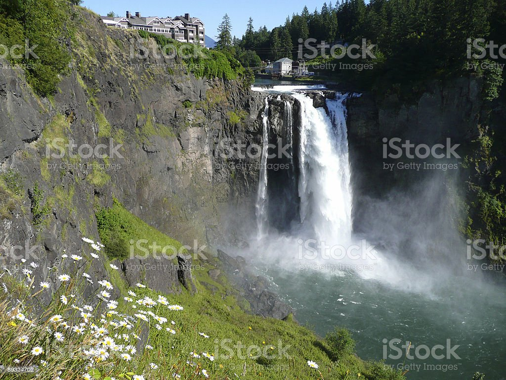 Snowqualmie Falls stock photo