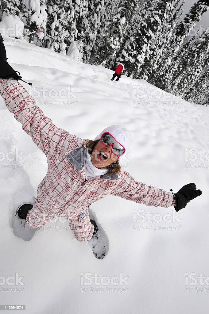 Snowshoeing in Canada royalty-free stock photo