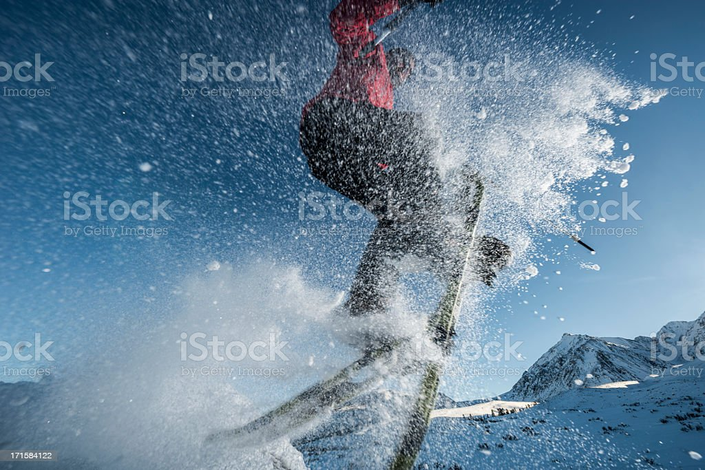 snowshoeing royalty-free stock photo