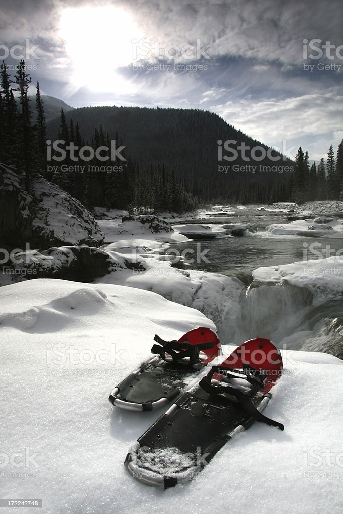 Snowshoes 2 royalty-free stock photo