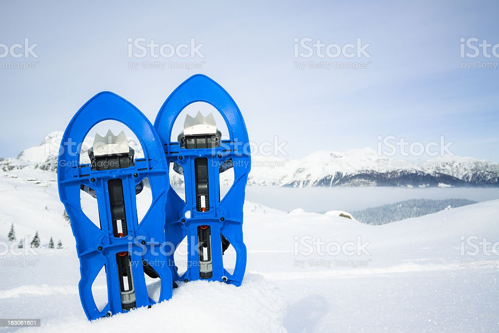 snowshoes royalty-free stock photo