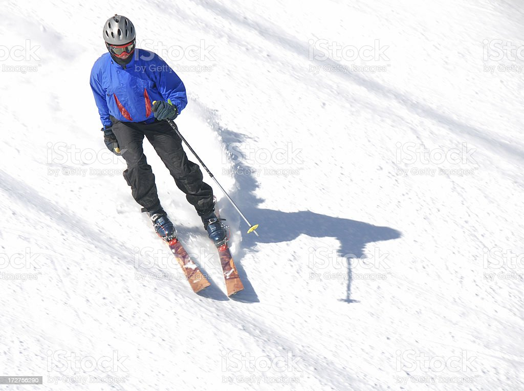Snowskier royalty-free stock photo