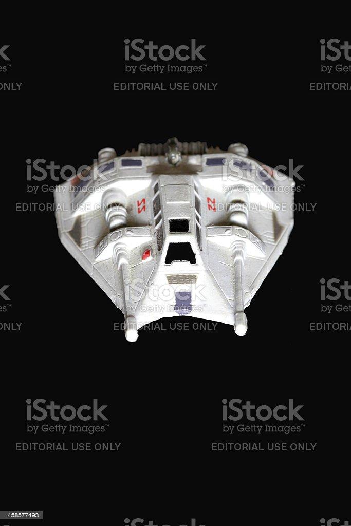 Snowspeeder on Black royalty-free stock photo