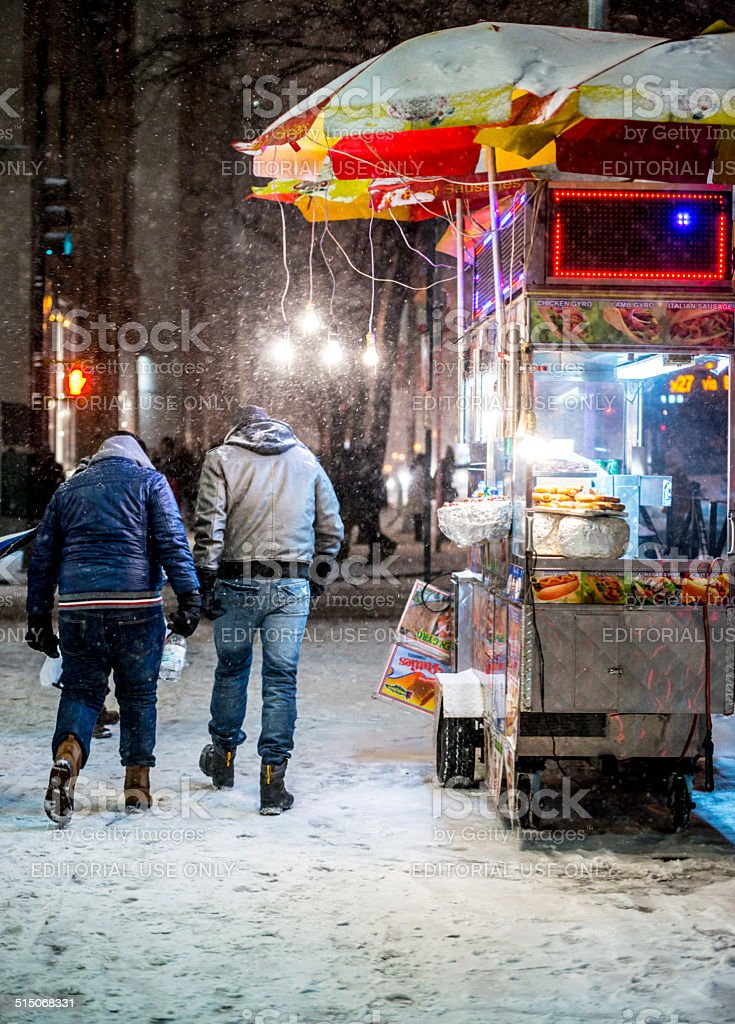 Snowstorm in New York stock photo