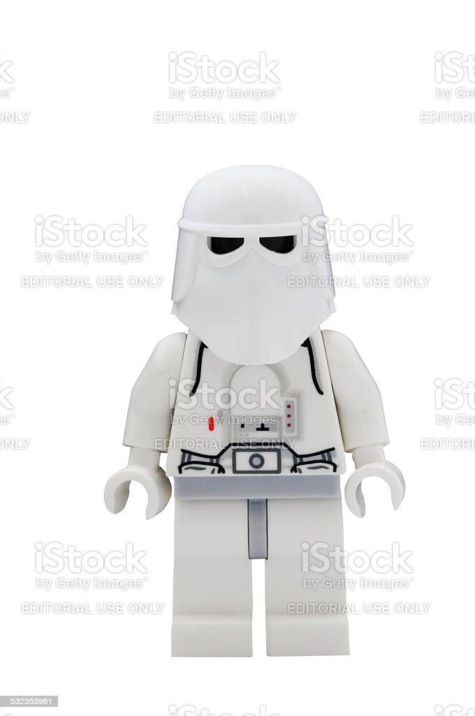 Snowtrooper Minifigure stock photo