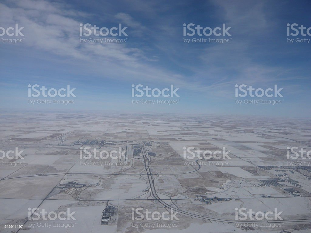 snowy aerial shot royalty-free stock photo