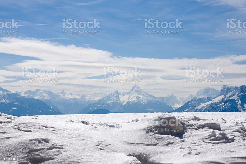 Snowy Alpine Scenic stock photo