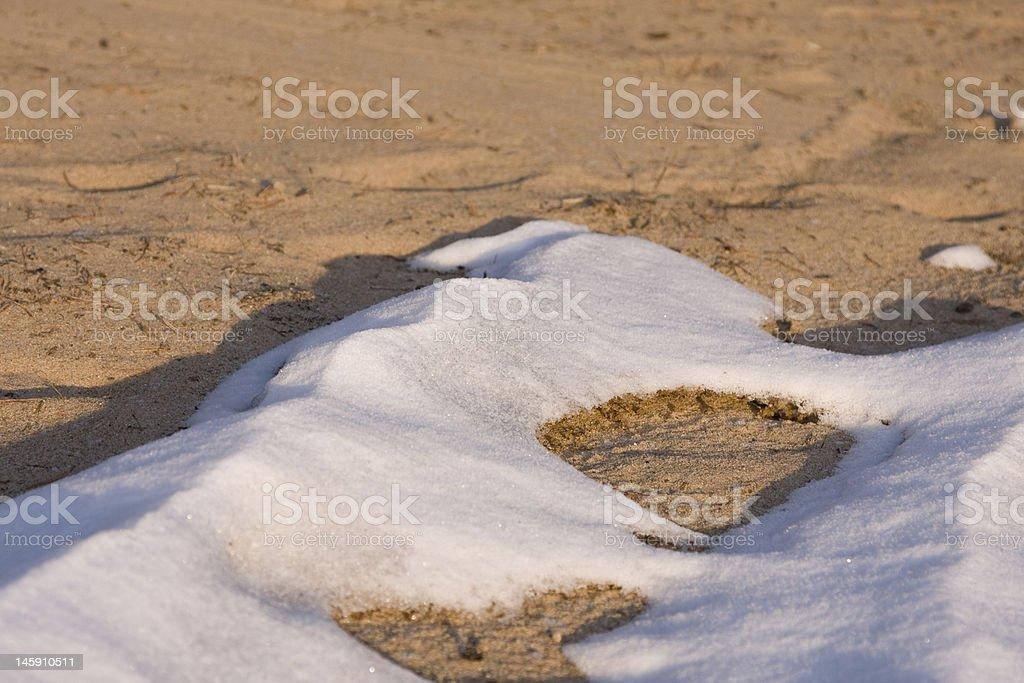 Snowy Beach royalty-free stock photo