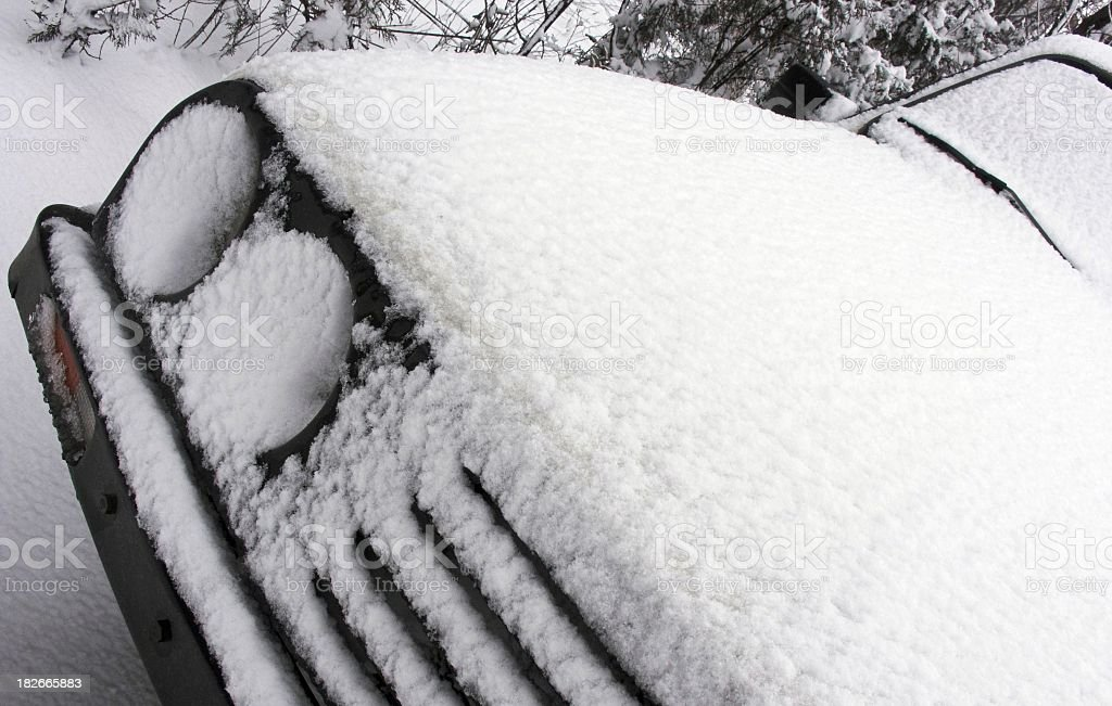 Snowy Car 1 stock photo