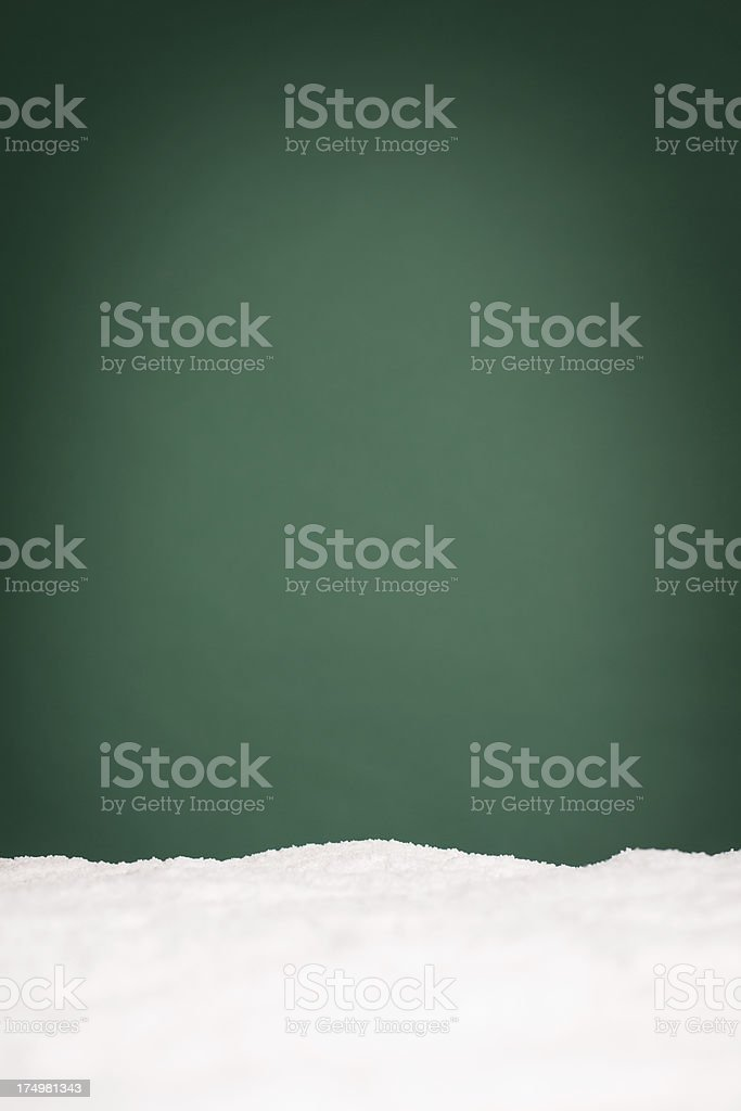 Snowy Christmas Background, With Copy Space royalty-free stock photo