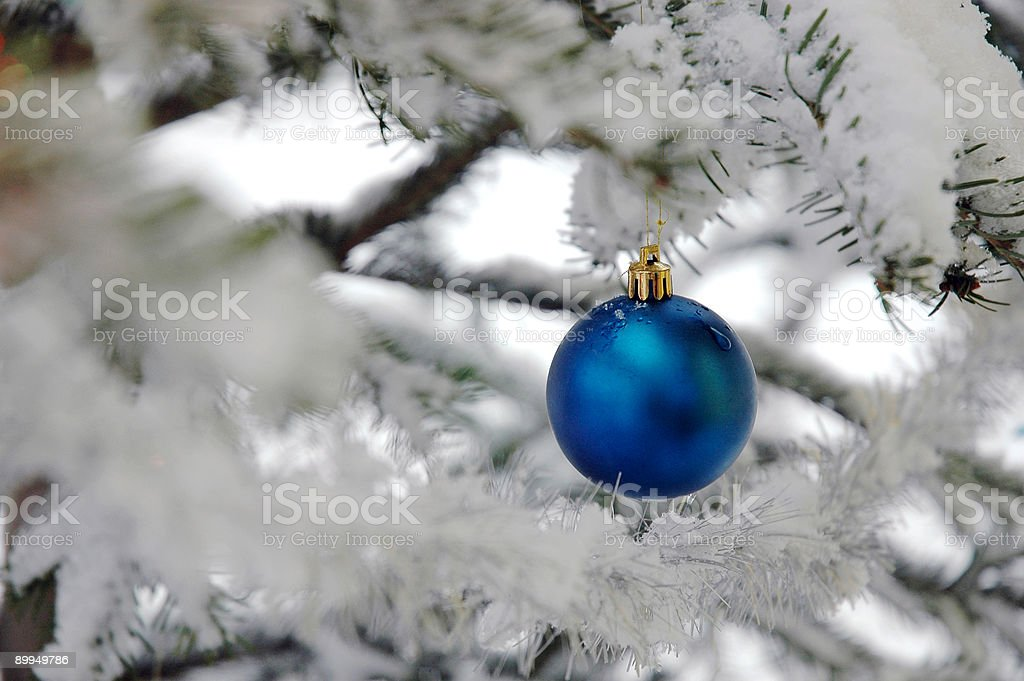 Snowy Christmas ball royalty-free stock photo