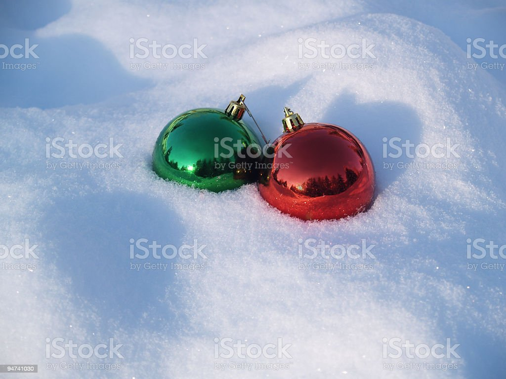 Snowy Christmas Morning royalty-free stock photo