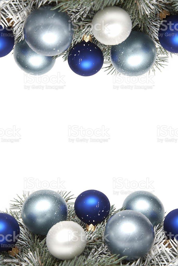 Snowy Chrstmas decoration royalty-free stock photo