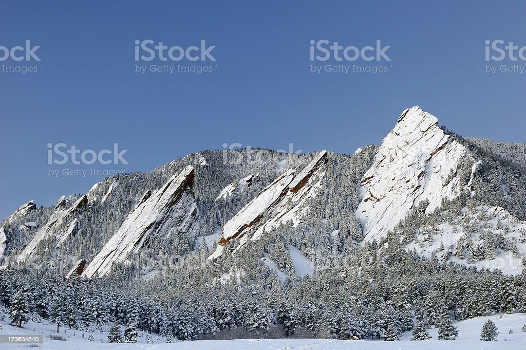 Snowy Flatirons royalty-free stock photo