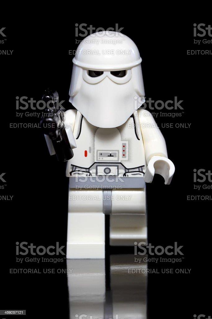 Snowy Gunman stock photo