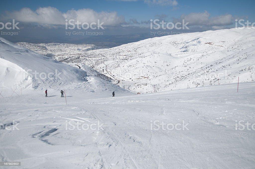 snowy hermon mountain, Israel royalty-free stock photo