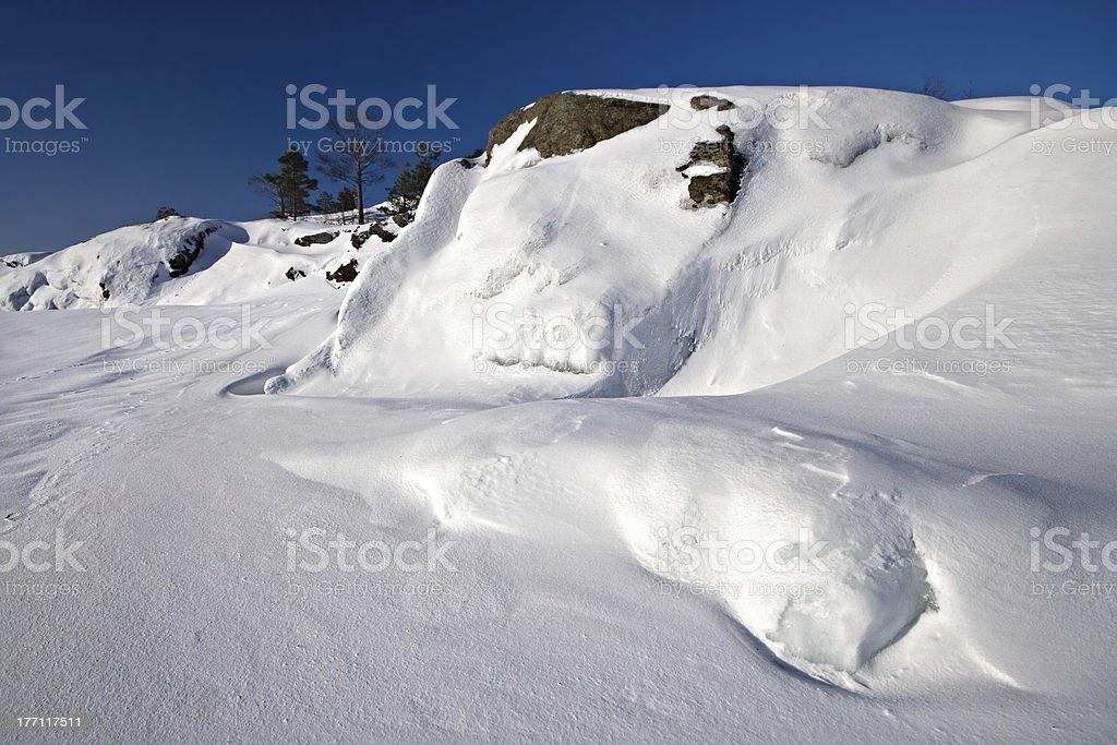 Snowy isle royalty-free stock photo