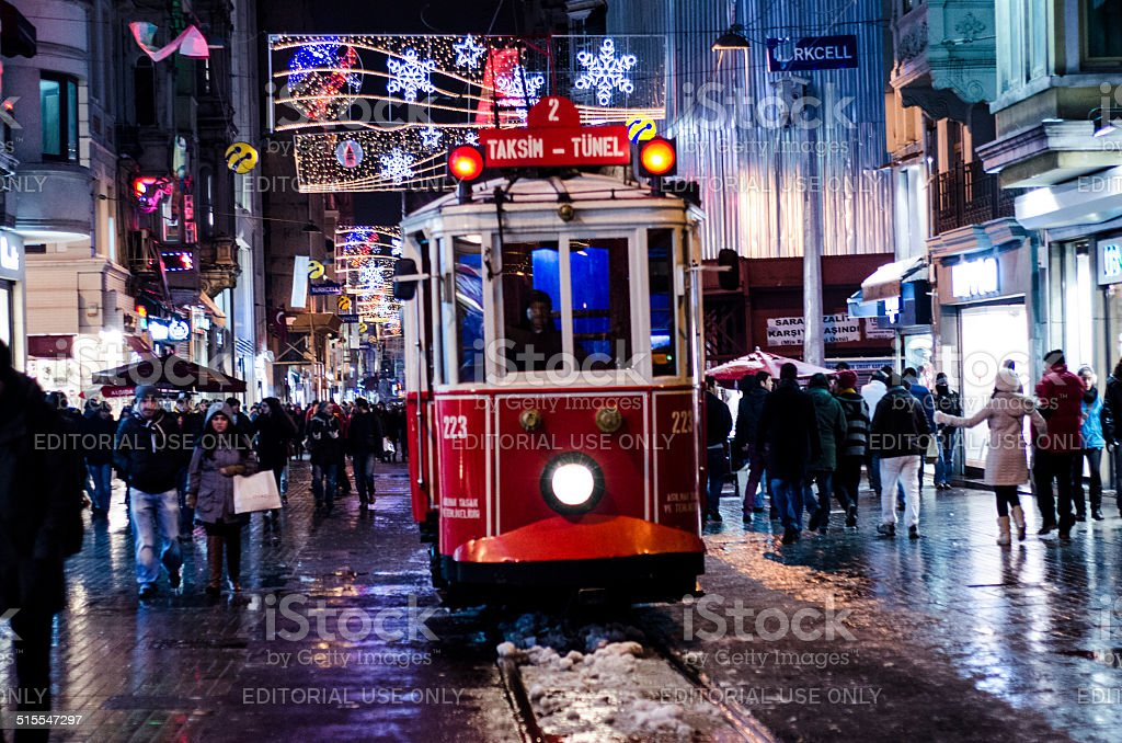 Snowy Istiklal stock photo