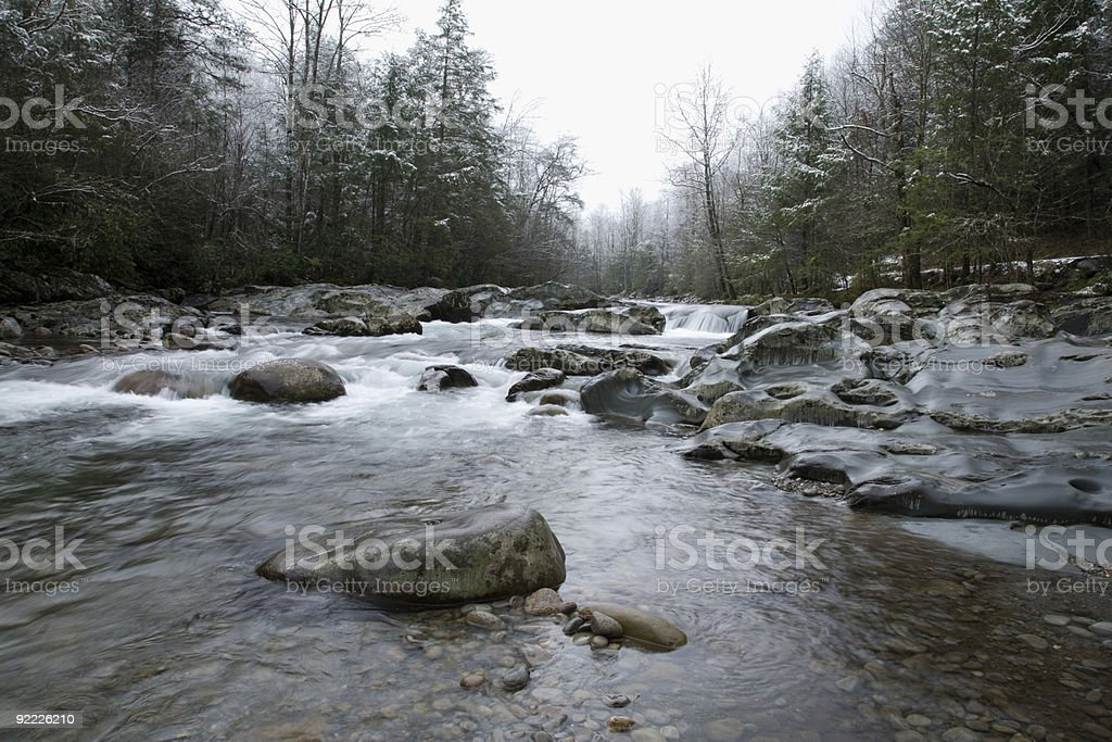Snowy Landscape, Greenbrier, Great Smoky Mtns NP royalty-free stock photo