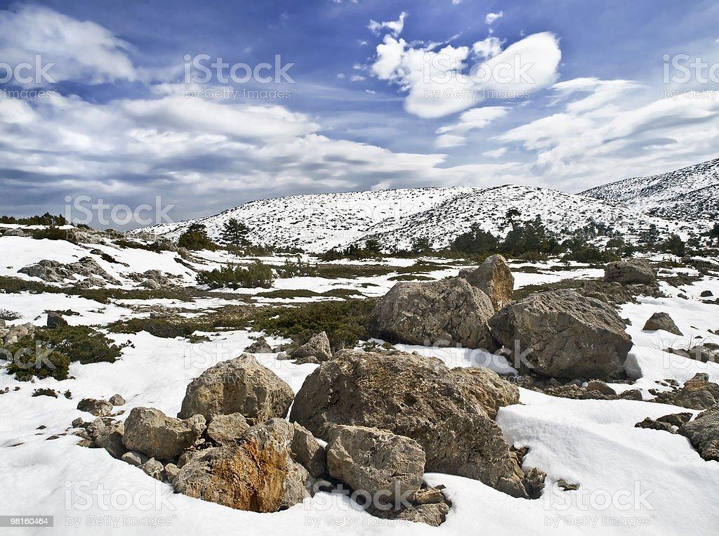 Snowy Landscape stock photo