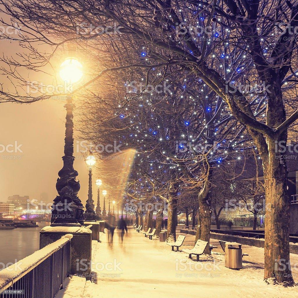 Snowy London stock photo