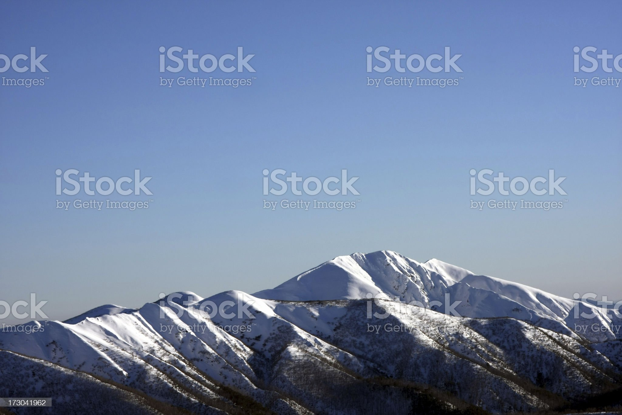 Snowy Mount Feathertop  in the sun royalty-free stock photo