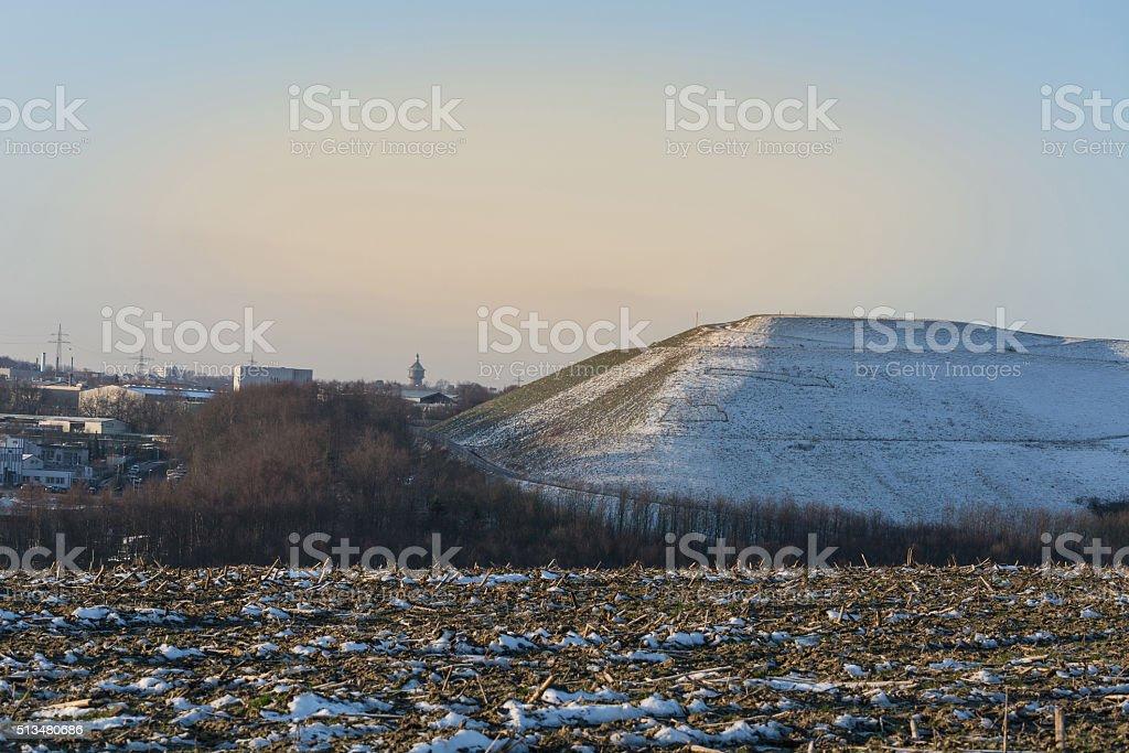 Snowy Mountain a landfill stock photo