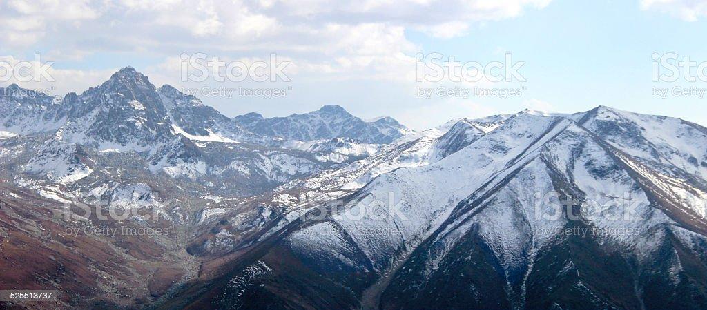 Snowy mountain at Gulmarg, Kashmir, India stock photo