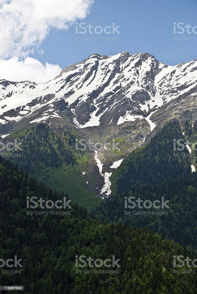 snowy mountain landscape royalty-free stock photo