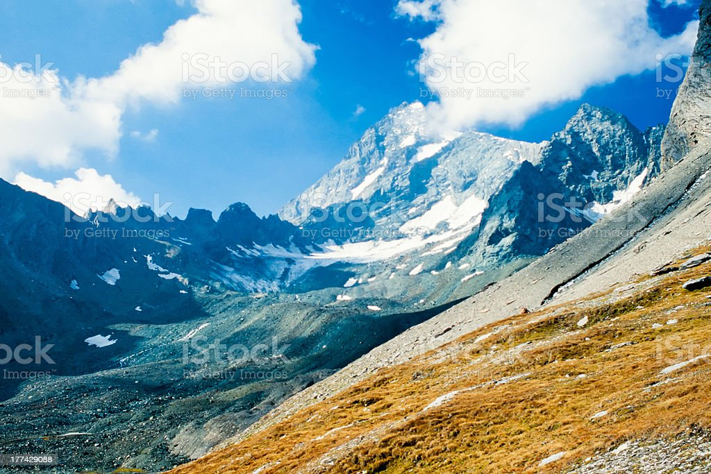 Snowy mountain of Grossglockner in Austria Europe royalty-free stock photo