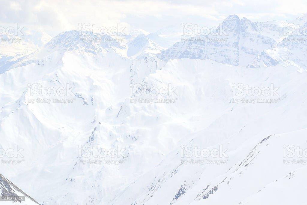 snowy mountain peaks on glacier val senales stock photo