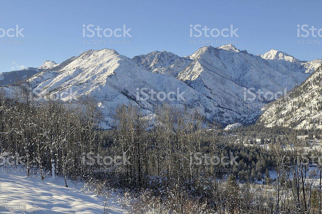 Snowy Mountain stock photo