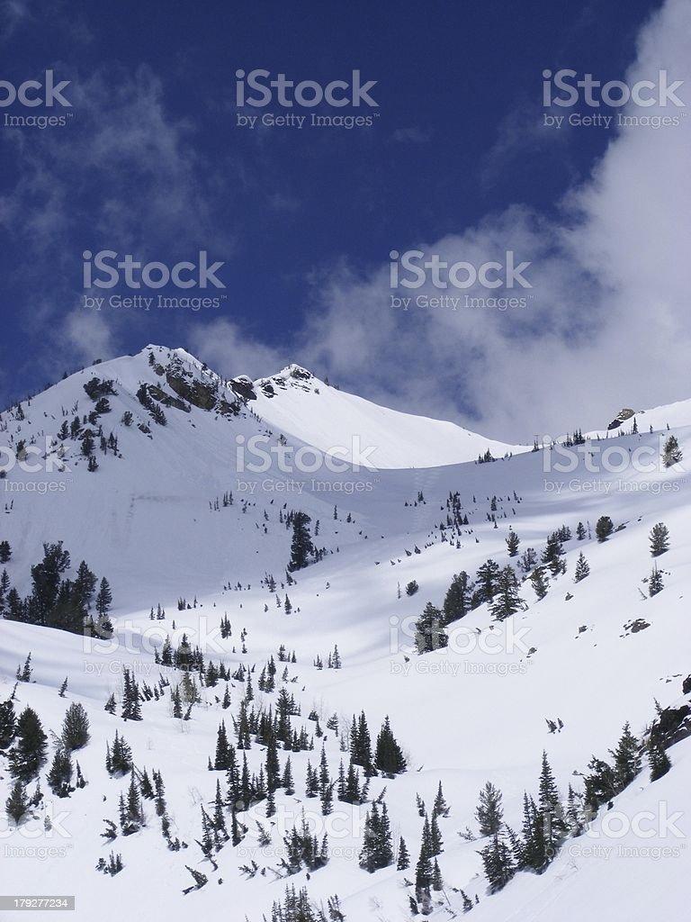 Snowy Mountain royalty-free stock photo