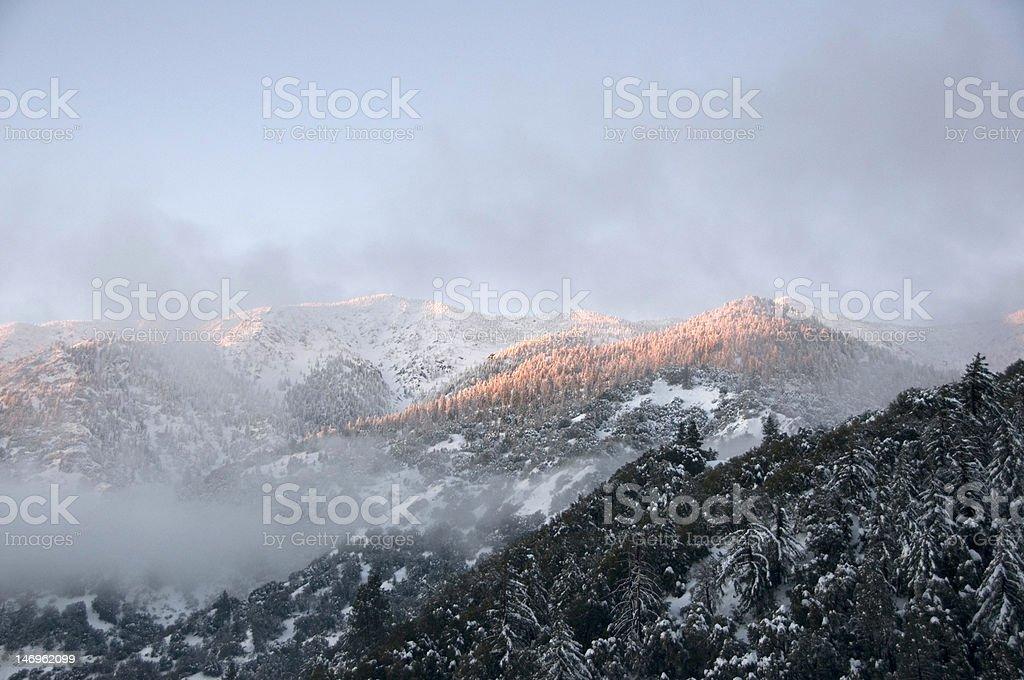 snowy mountain tops royalty-free stock photo