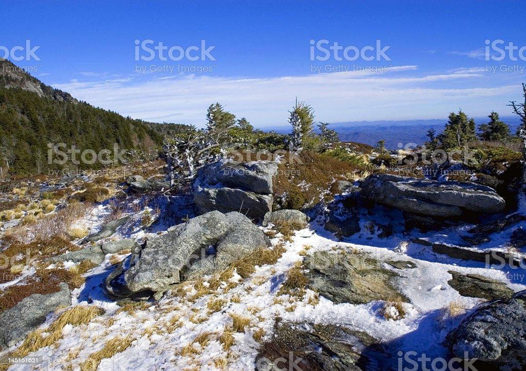 Snowy Mountain View royalty-free stock photo