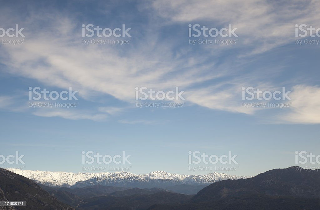 Snowy mountain with beautiful landscape royalty-free stock photo