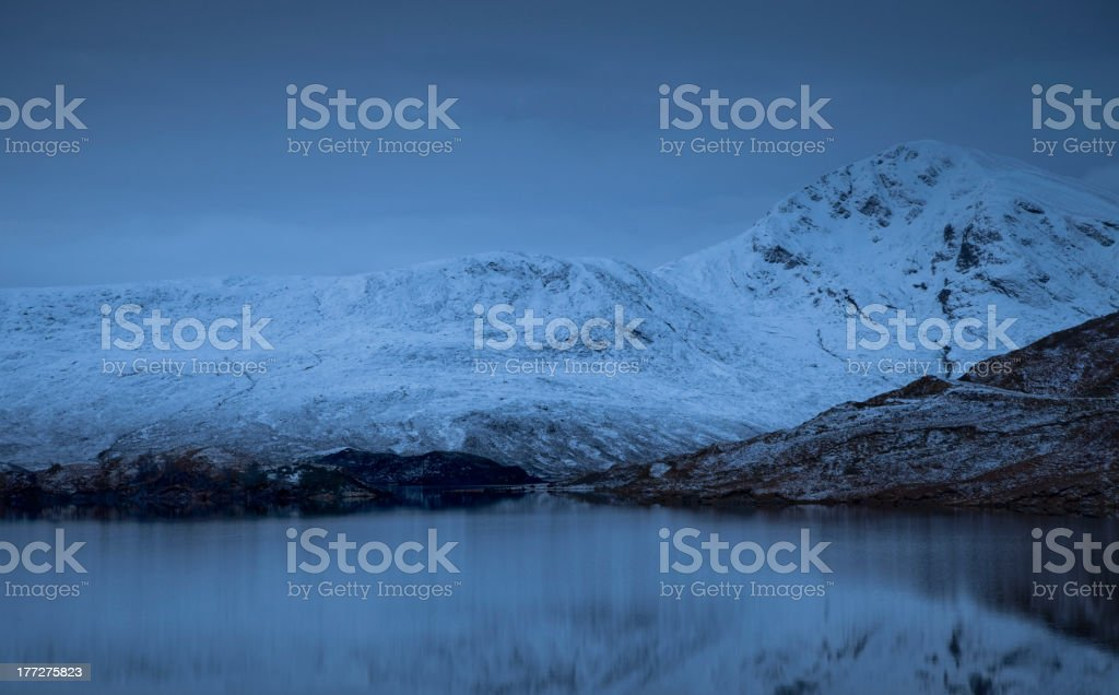 Snowy Mountains at Dawn royalty-free stock photo