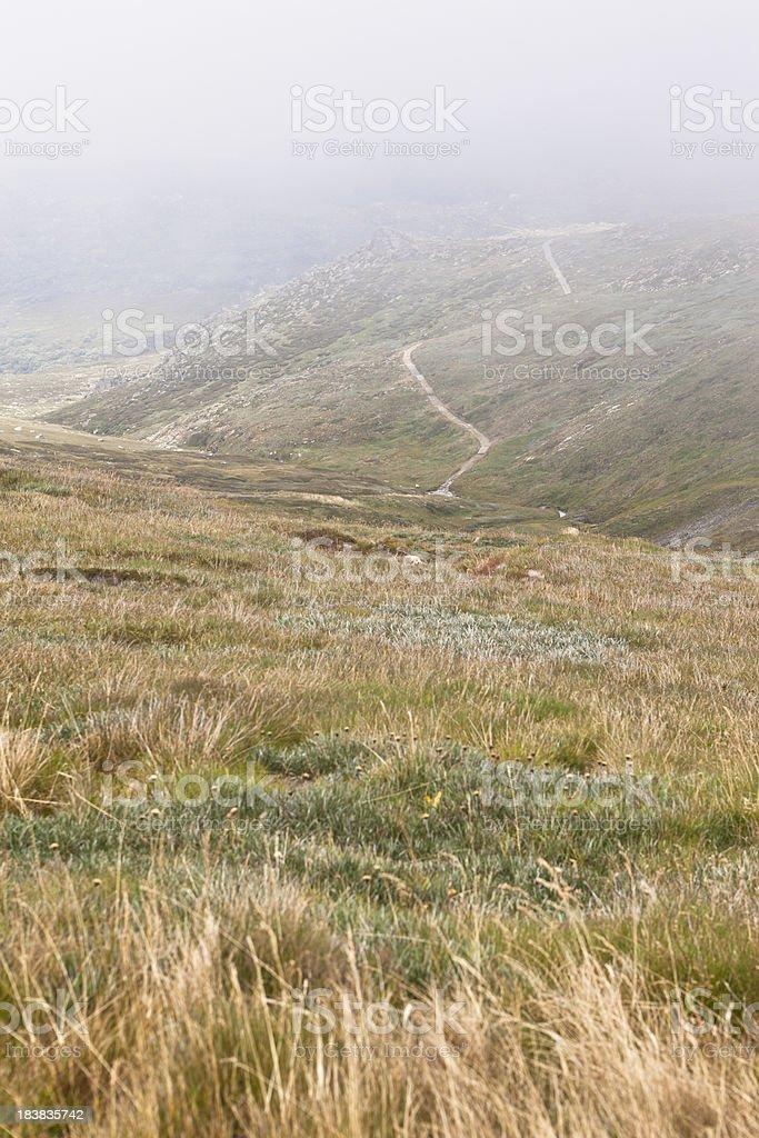 Snowy Mountains Kosciuszko National Park stock photo