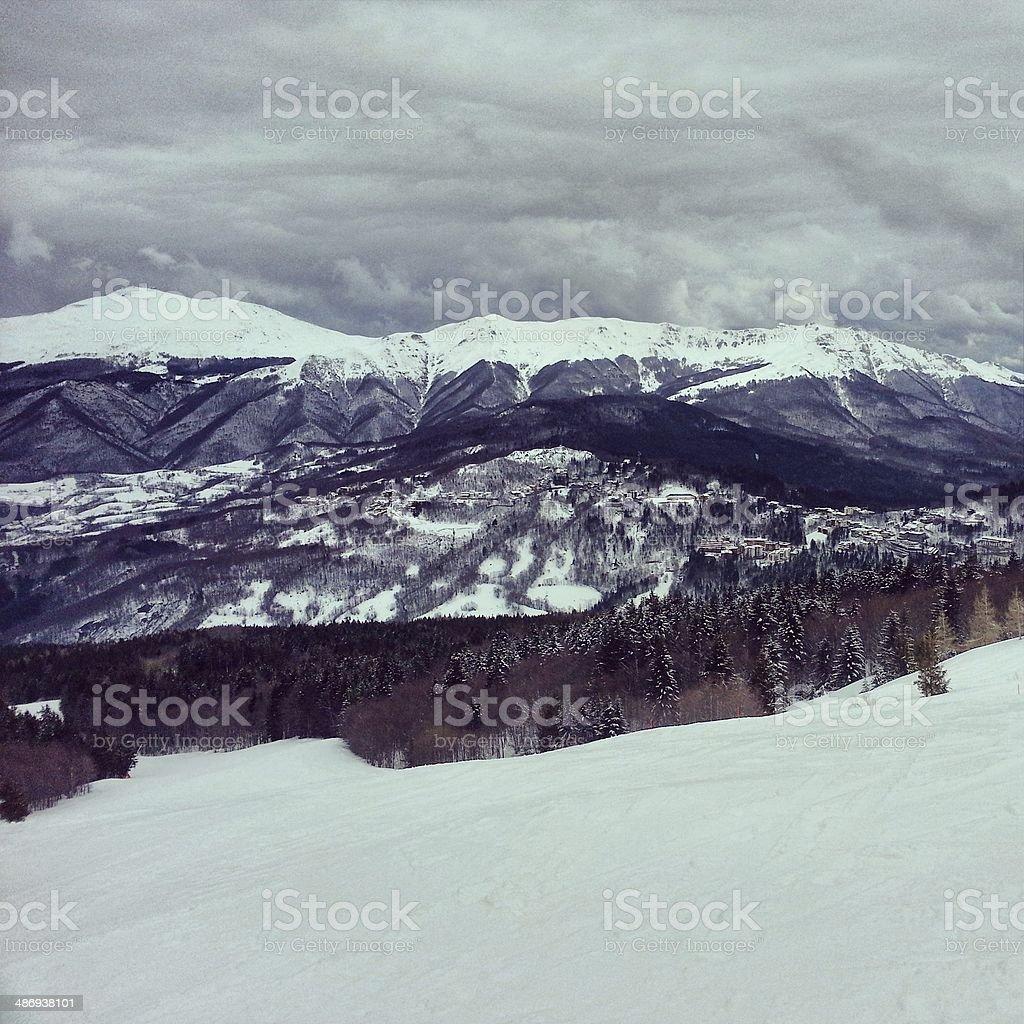 Snowy Mountains - MobileStock stock photo
