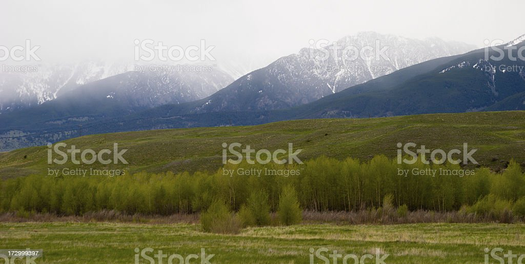 Snowy Mountains royalty-free stock photo