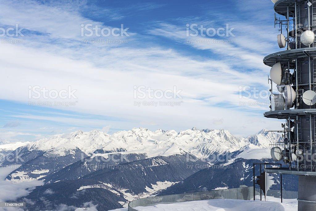 Snowy mountains royalty-free stock photo
